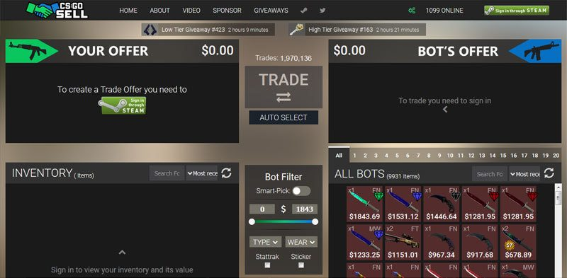How does csgo bot trading work